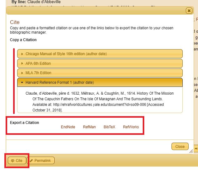 hraf citation example