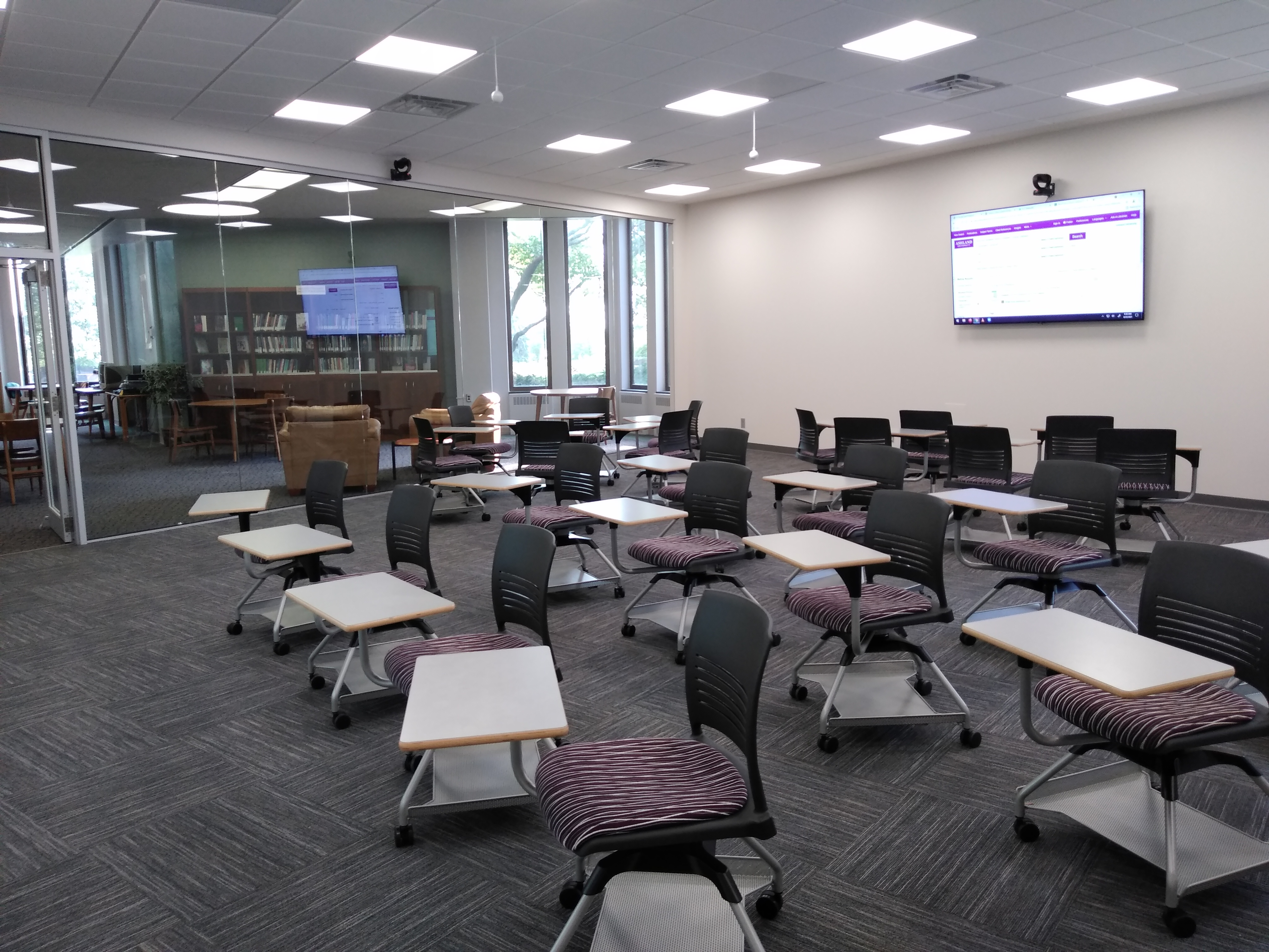 Full Classroom View of Desk Chairs