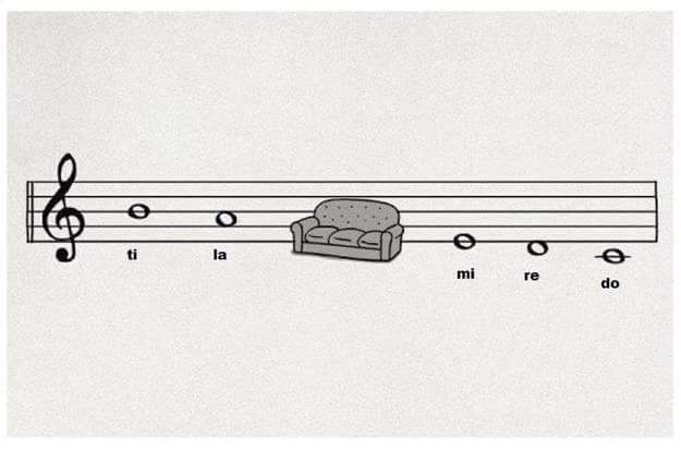 descending scale using solfege with a sofa in place of sol fa