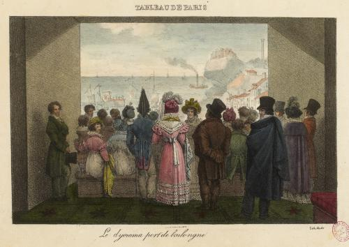 print of nineteenth century crowd