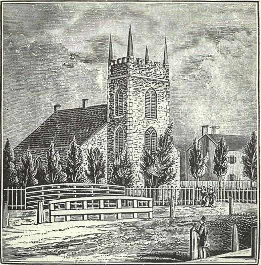 print of nineteenth century church