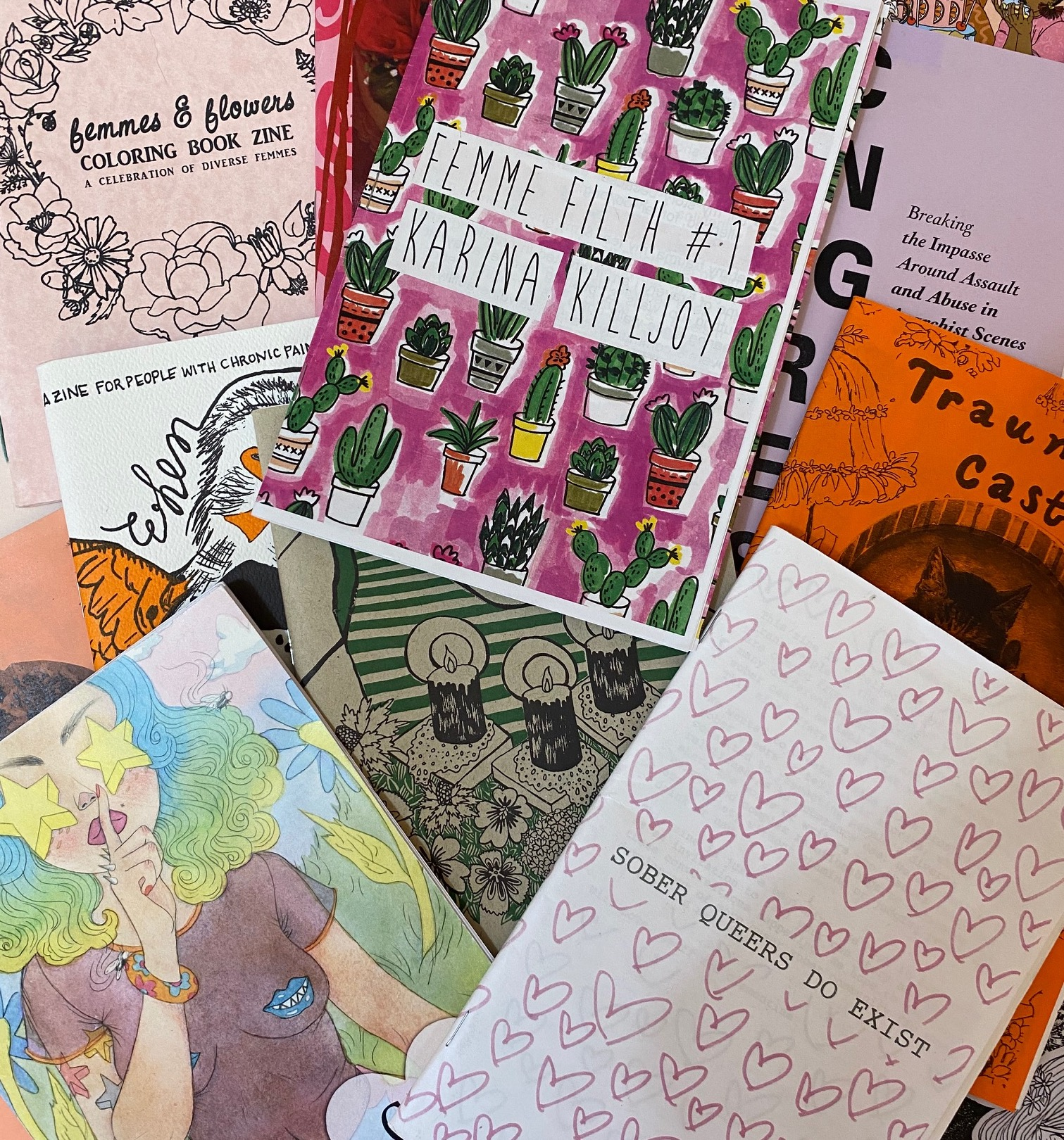 A selection of zines