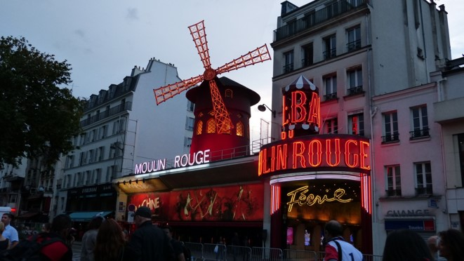 color photograph of Moulin Rouge