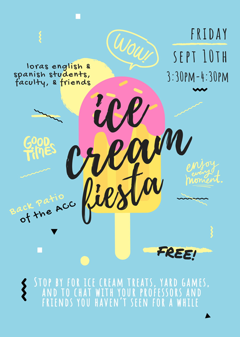 english ice cream social infographic