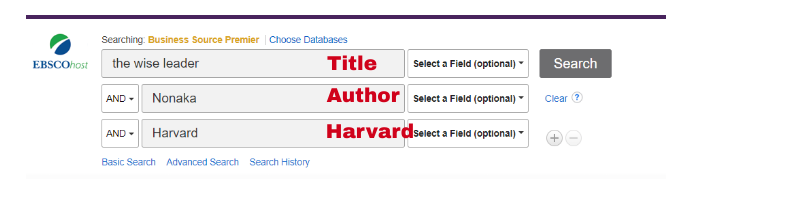 Harvard Business Review search