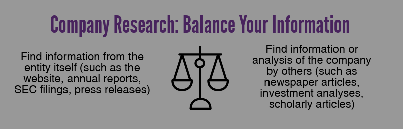 company research balance your information
