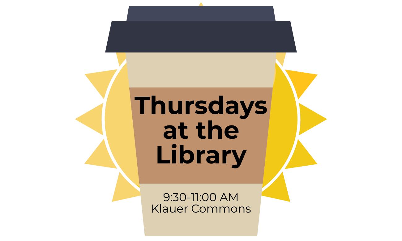 thursdays at the library logo