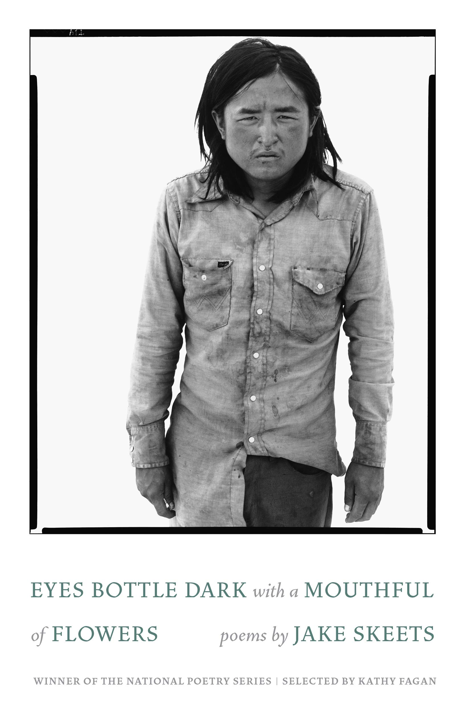 Eyes bottle dark with a mouthful of flowers book cover