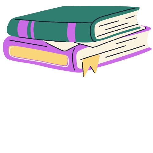 Stack of drawn books