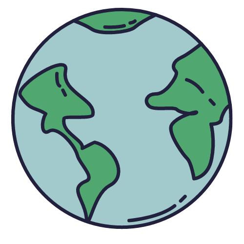 Small cartoon Earth.