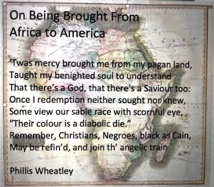 Poem by Phillis Wheatley_On Being Brough from Africa to America