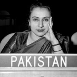 Begum Shaista Ikramullah of Pakistan