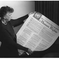 photo of Eleanor Roosevelt with UN Human Rights Declaration