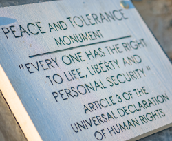Peace and tolerance monument image