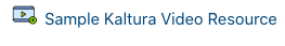 What the Kaltura Video Resource link looks like