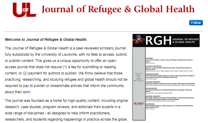 journal of refugee and global health