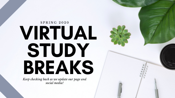 virtual study breaks banner
