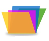 icon colorful folders