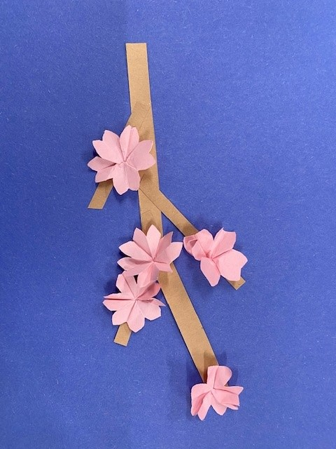Cherry Blossom branch origami