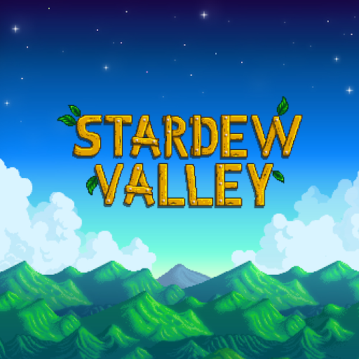 Stardew Valley with mountains, clouds, and sky