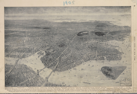 Bird's-eye view of Brooklyn from the northwest