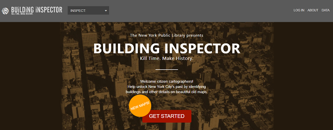 Image for the landing page of the crowdsourcing tool, Building Inspector