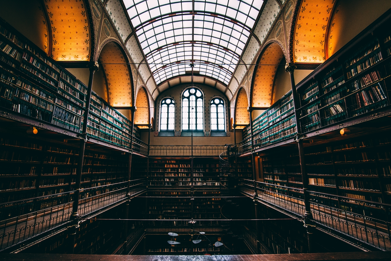 A library in the Rijksmuseum