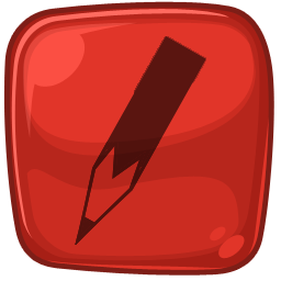 Red pencil edit icon