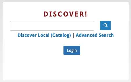 Discover Search Box Icon