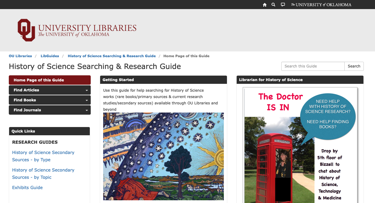 History of Science research guide icon