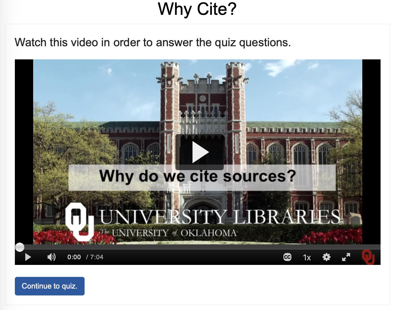 Why Do We Cite Sources Quiz Thumbnail