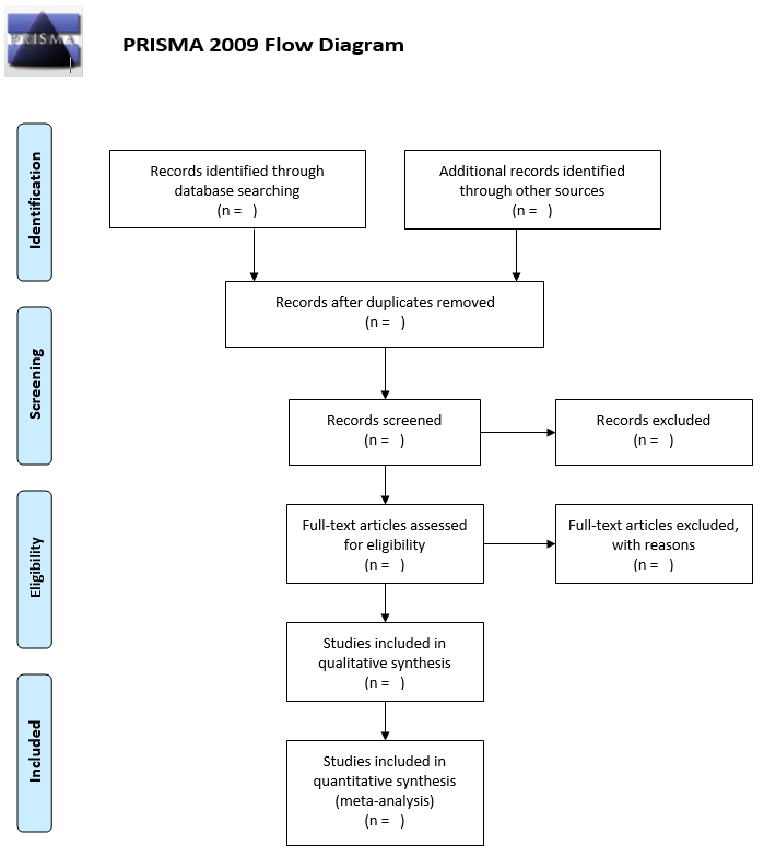 Diagram depicting the systematic review process