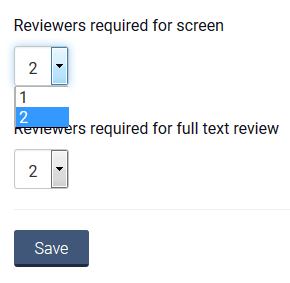 changing number of reviewers