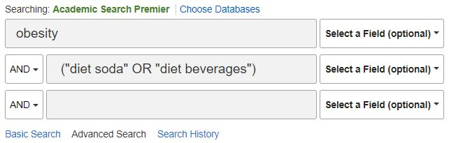 """obesity AND (""""diet soda"""" OR """"diet beverages"""")"""