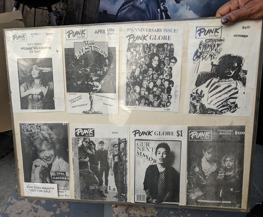 fliers from Tequila Mockingbird's LA Punk Museum collection