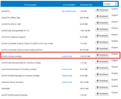 Choose the ArcGIS Desktop installation file