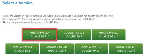 Choose Esri Software to download