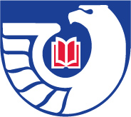 Federal Depository Library Program Logo of a white eagle circling a red open book on a blue background.