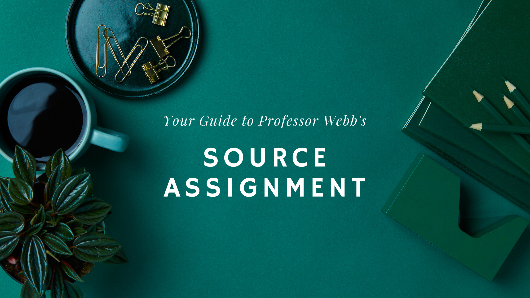 your guide to professor webb's source assignment