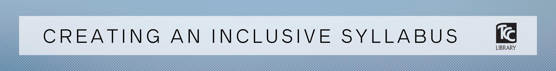 creating an inclusive syllabus banner