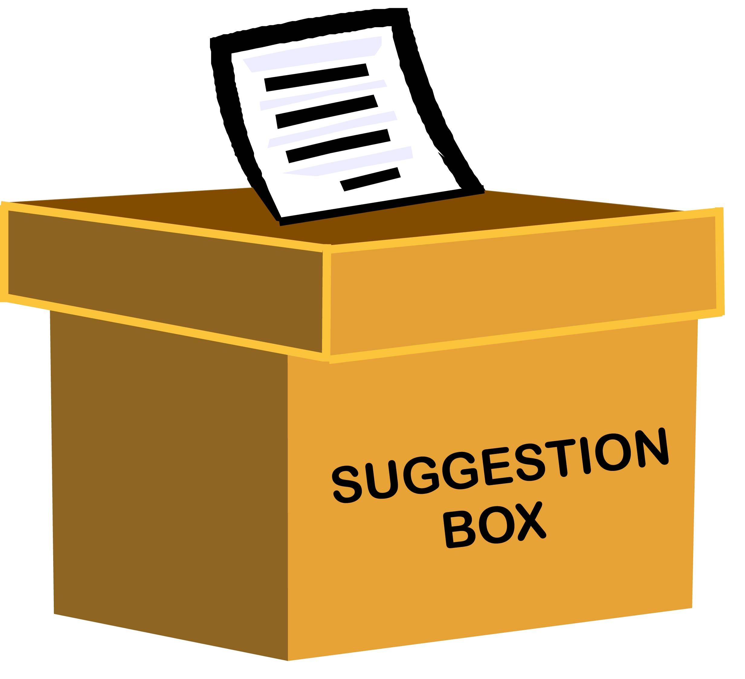 Suggestion box drawing