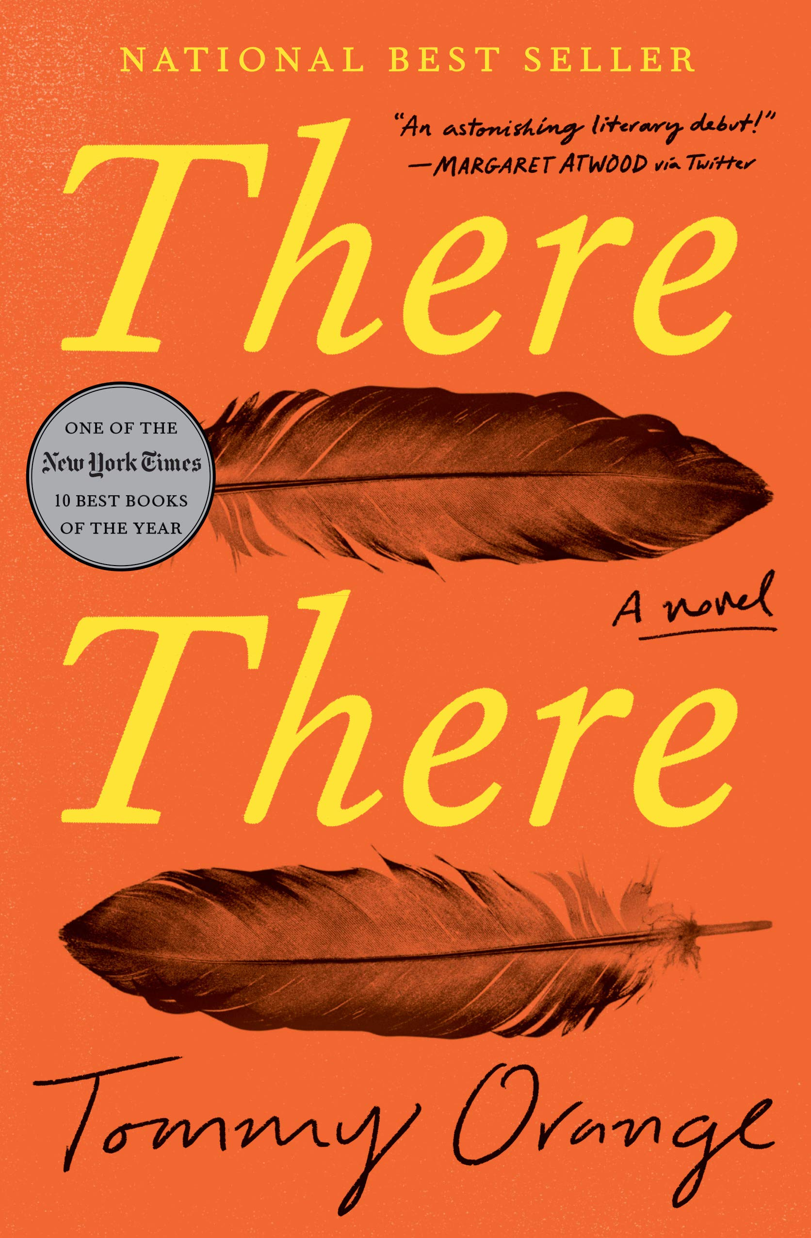 Image of book cover of There There by Tommy Orange