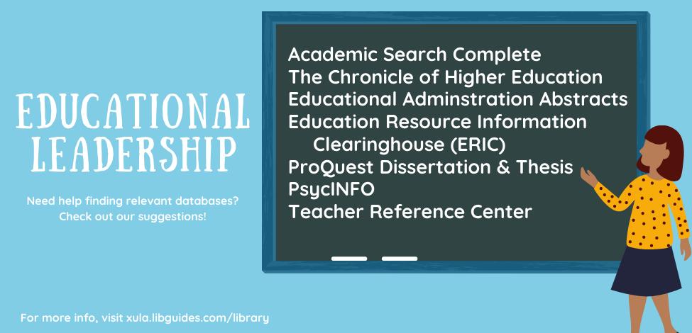 Education Leadership Databases