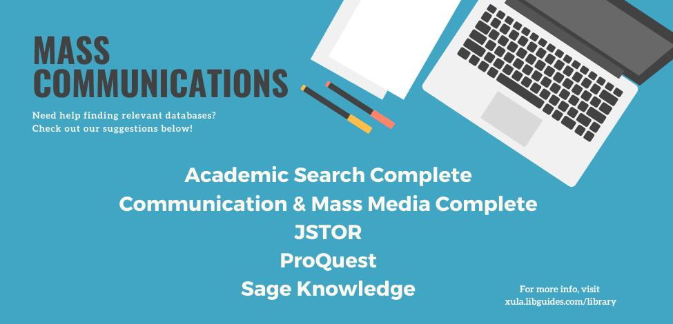 Mass Communications Databases