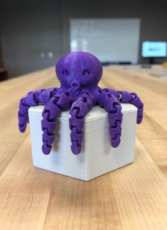 3D Printed Purple Octopus