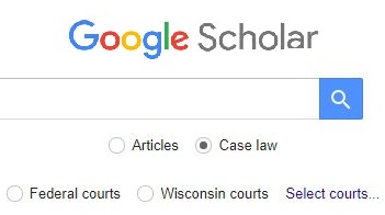 search cases on Google Scholar