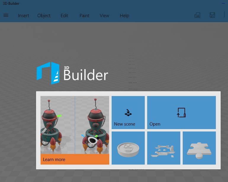 Screenshot of 3d builder