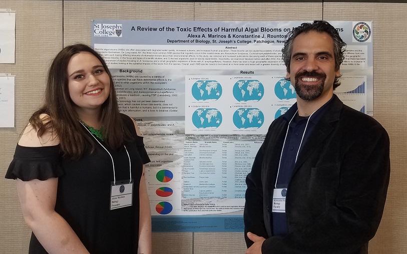 Photo of Alexa Marinos and Dr. Konstantine Rountos