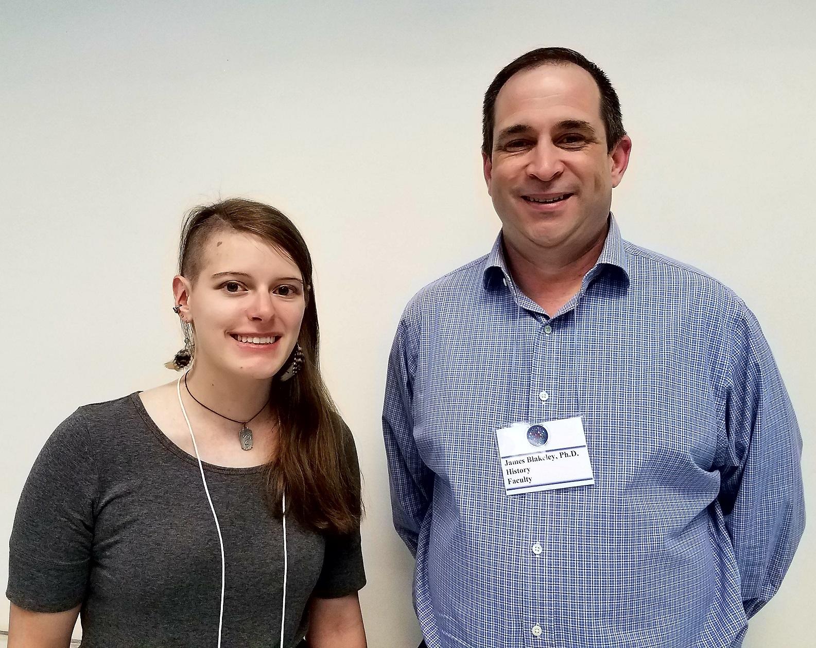 Photo of Jessica Gagliardi and Dr. James Blakeley