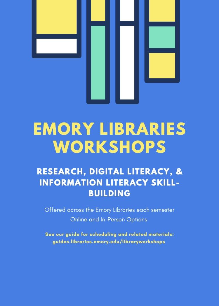 Library Workshop Flyer